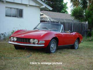 FIAT Dino Front View on MY Lawn
