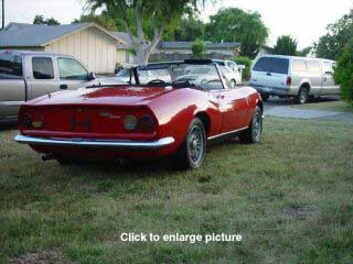FIAT Dino Spyder Back View