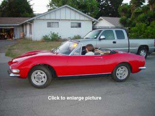 Side View of FIAT Dino Spider